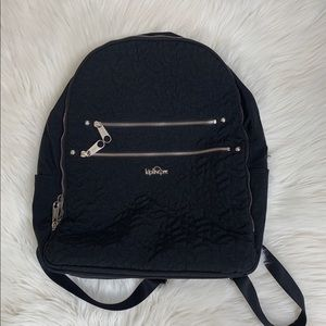 Kipling Quilted Black Backpack